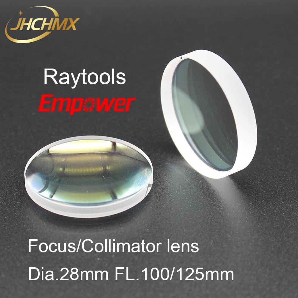 JHCHMX Raytools collimateur lentille/objectif de mise au point 0-3000 W Dia.28mm FL.100/125mm pour Raytools fibre Laser tête BT210 BT230 Bodor Machine