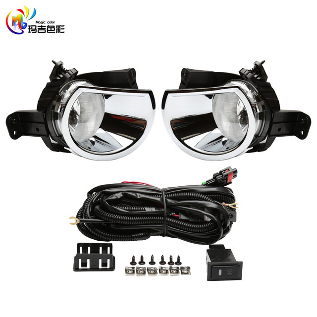 Chrome Driving Lamps Fog Lights For Chevrolet Chevy Colorado 2016 With Wires Harness Switch