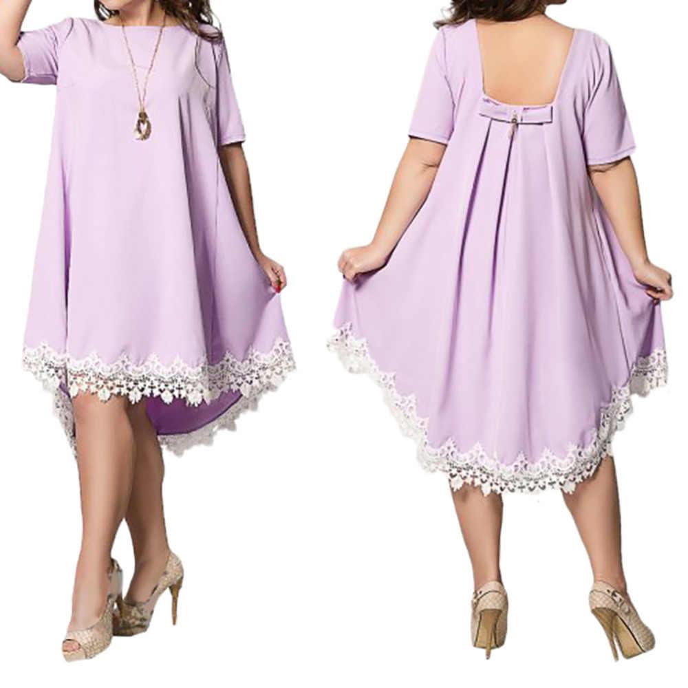 5XL 6Xl Plus rozmiar letnia sukienka kobiety w stylu casual, letnia Mini sukienka koronkowa z odkrytymi plecami Tassel Sexy sukienki plażowe Party Vestidos