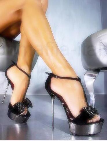 Carpaton Newest Crystal Bowknot Decorations High Heel Sandal Summer peep Toe T strap Platform Shoes Woman