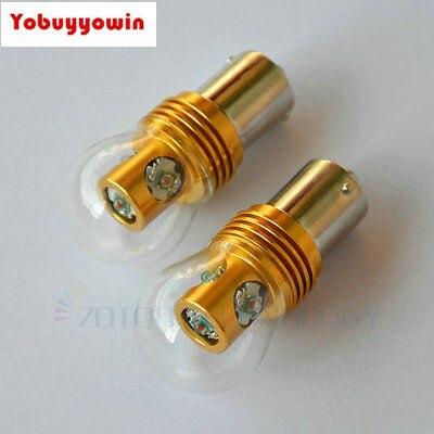 2Pcs Amber/Yellow P21W 382 BA15s 1156 Single Filament CAN BUS 20W CREE Chip LED REVERS CAR BULBS Tail lights,Turn signal light