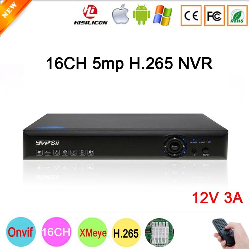 5mp/4mp/3mp/2mp/1mp IP Камера Hi3536D XMeye 1CH RCA аудио выход H.265 5mp 16CH 16-канальный Onvif IP NVR Бесплатная доставка