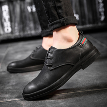 2018 New Men's Genuine Leather Casual Shoes Men Spring Autumn Men's Shoes Lace-Up Solid Men Flat with Shoes   5
