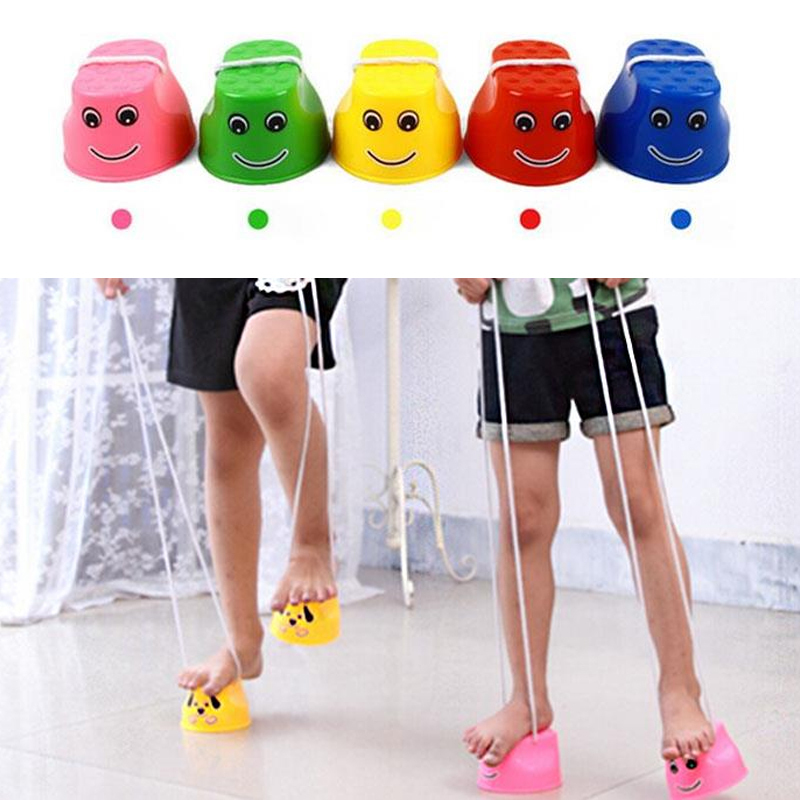 2Pcs/Set Jumping Stilts Toy Walk With Wing Balance Shoes Balance Training Toy For Kids Amusement Kids Outdoor Game Adorable