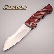 new folding pocket small knife 440c steel handmade snake red wood sharp cutting tools survival tactical sharp knife square head электроточило work sharp knife