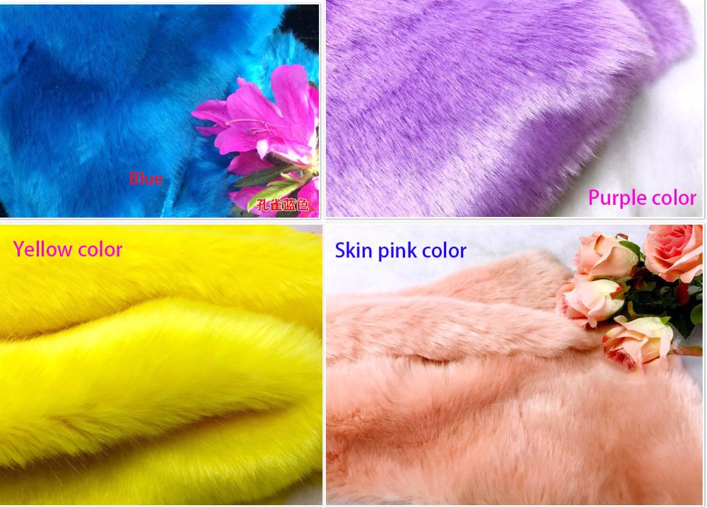 Thicker Imitation rabbit fur plush fabric,faux fur,Clothing counter carpet decoration materials,160cm*45cm(half yard)/pcs