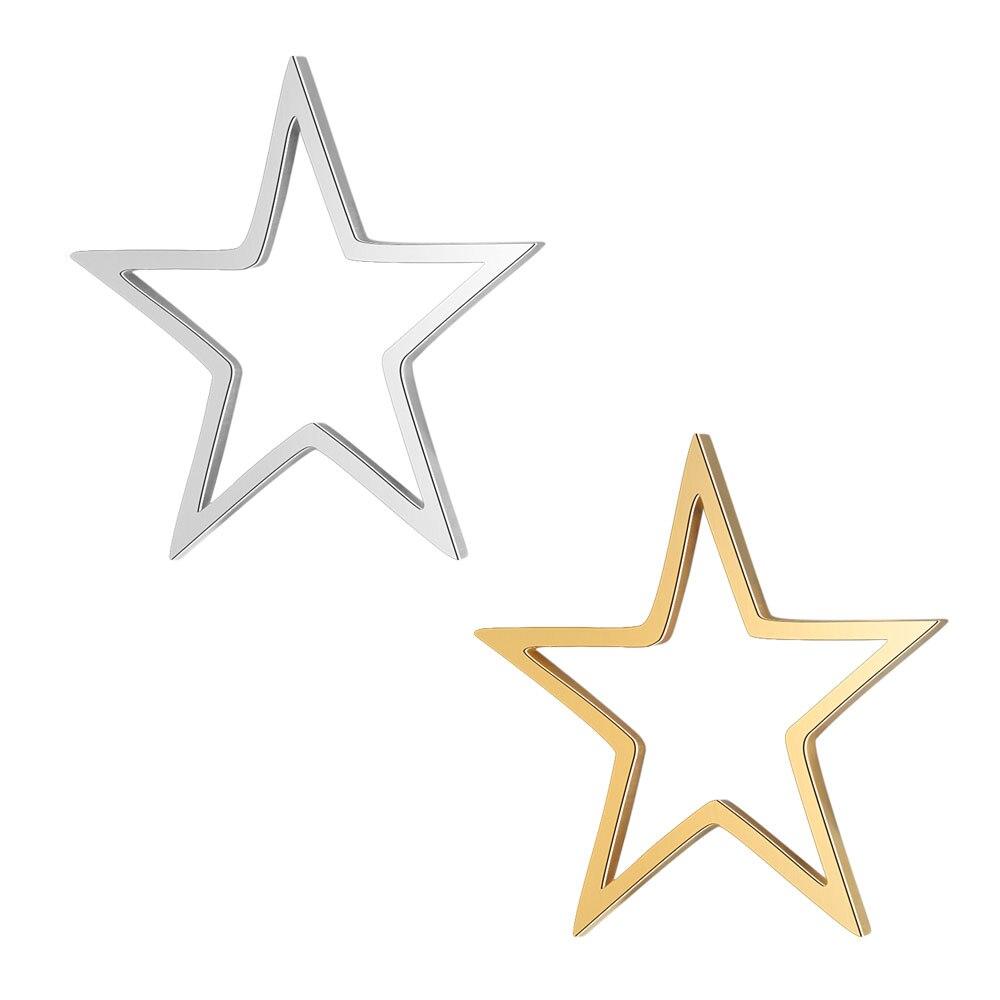 5 шт./лот 100% Подвеска из нержавеющей стали с полыми звездами и соединителем, оптовая продажа, DIY ювелирные изделия, фурнитура