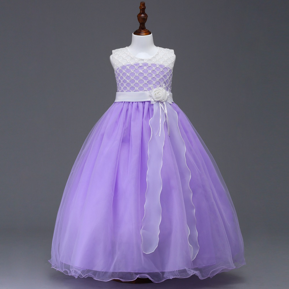 Liac Little Princess Girls Birthday Party Prom Dress With Bow
