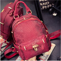 2017 New Hot Fashion Women Female European Crocodile Embossed Simple Preppy Style Students School Bag Shoulder Bags Backpacks