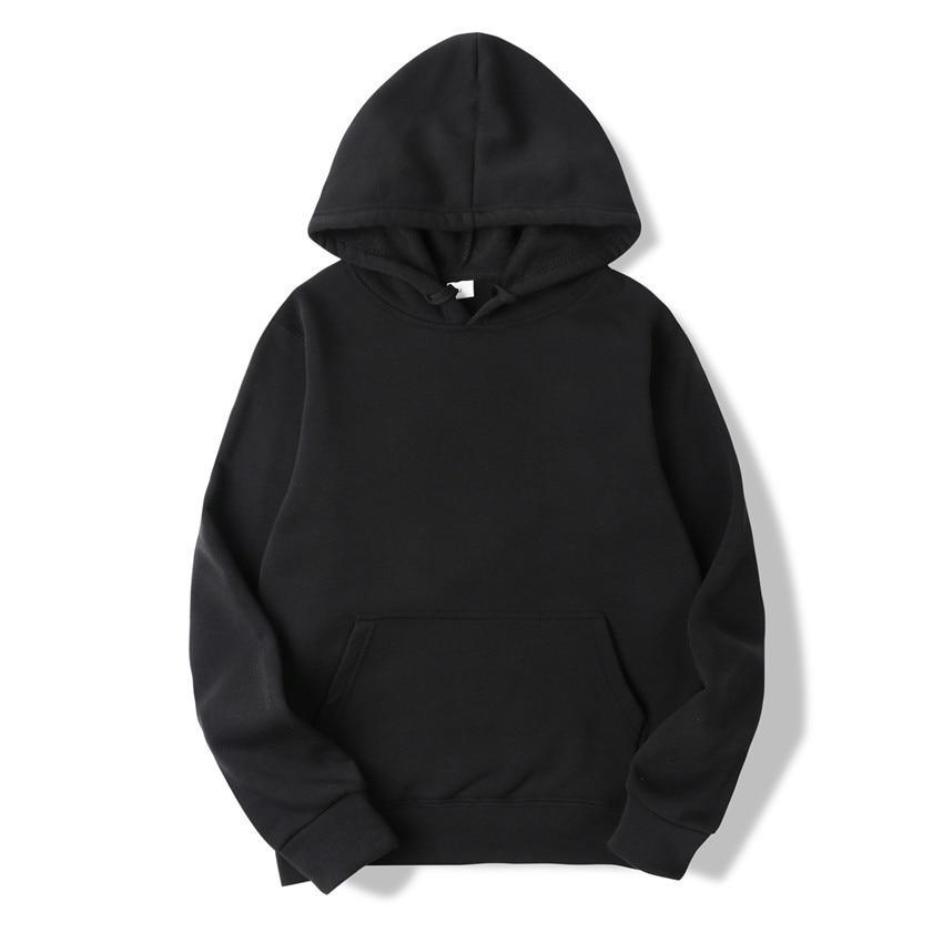 Quality Brand Men Hoodie Autumn Male Hip Hop Street wear Men Pullover Sweatshirts Hoodies Mens Solid Color Hoodie 1