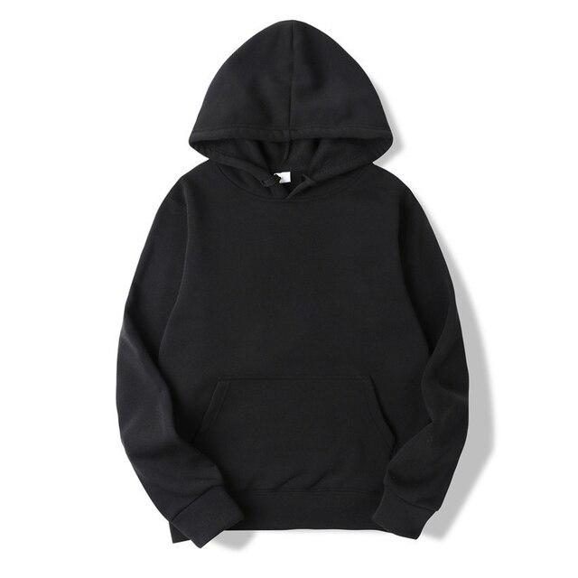 Quality Brand Men Hoodie Autumn Male Hip Hop Street wear Men Pullover Sweatshirts Hoodies Mens Solid Color Hoodie 25