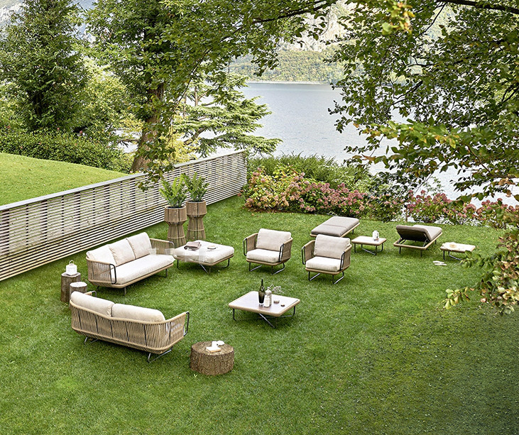 Hot sell good quality garden furniture woven rope sofa ...