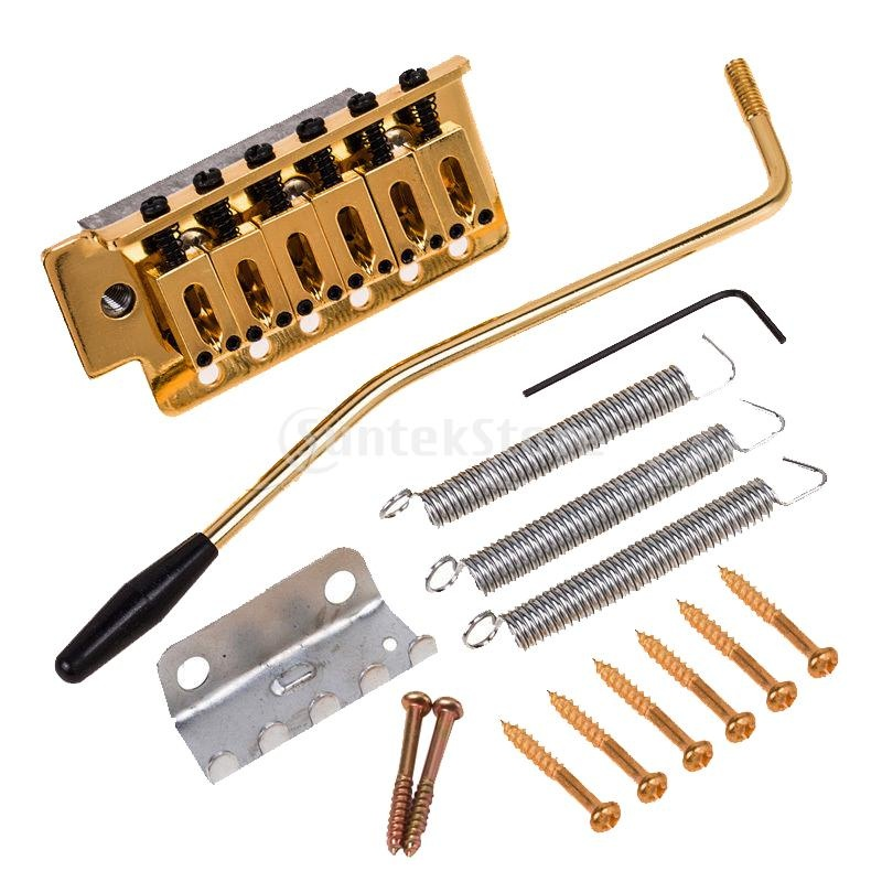 6 Strings Gold Guitar Tremolo Bridge With Bar For SQ ST Electric Guitar