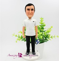 2019 AMAZING CAKE TOPPER Simple, leisure, temperament, uncle Ideas Customized Figurine Valentine's Day Custom Polymer Clay