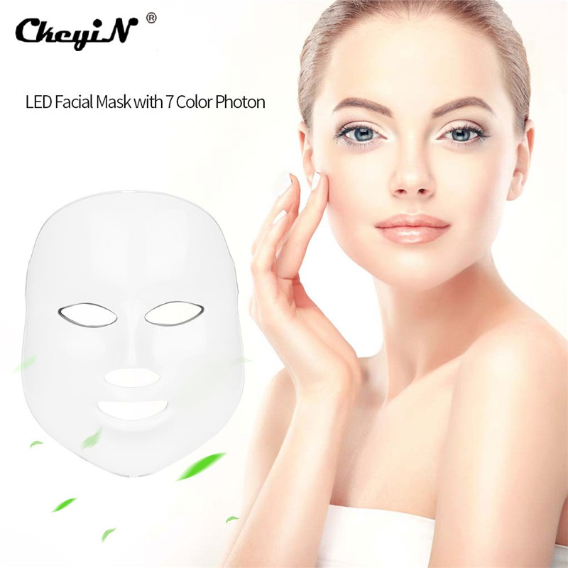 LED Light Photon Therapy Face Mask Anti Wrinkle Lifting Firming Acne Removal Skin Rejuvenation Electric Facial Beauty Machine beauty instrument home facial detoxification acne skin rejuvenation introducer lifting firming wrinkle massage beauty equipment