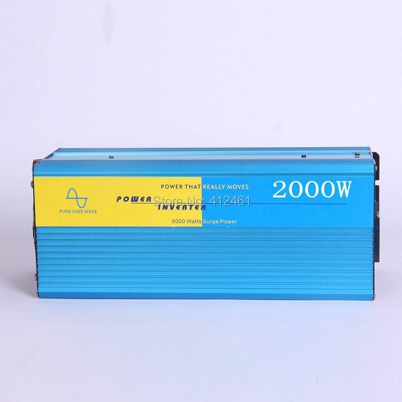 цена на Pure sine wave inverter 2000W 220/220V 12/24VDC, CE certificate, PV Solar Inverter, Power inverter, Car Inverter Converter