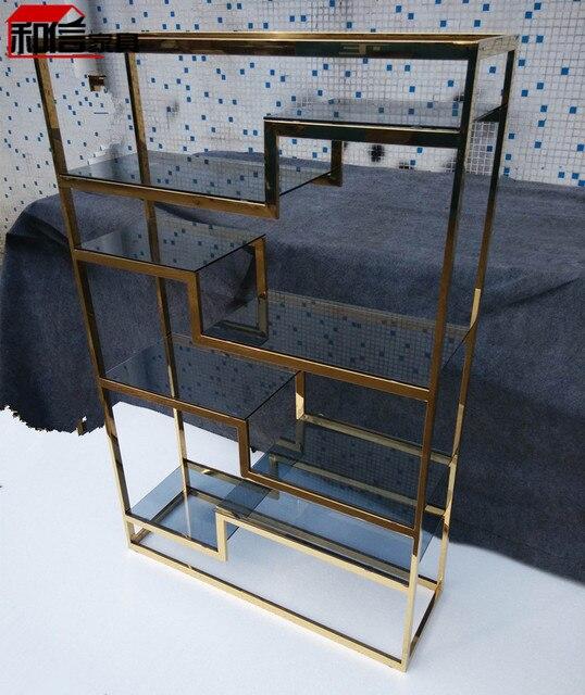 modern steel furniture. Golden Stainless Steel Shelves Minimalist Modern Creative Shelving Shelf Storage Rack Four Custom Metal Furniture E