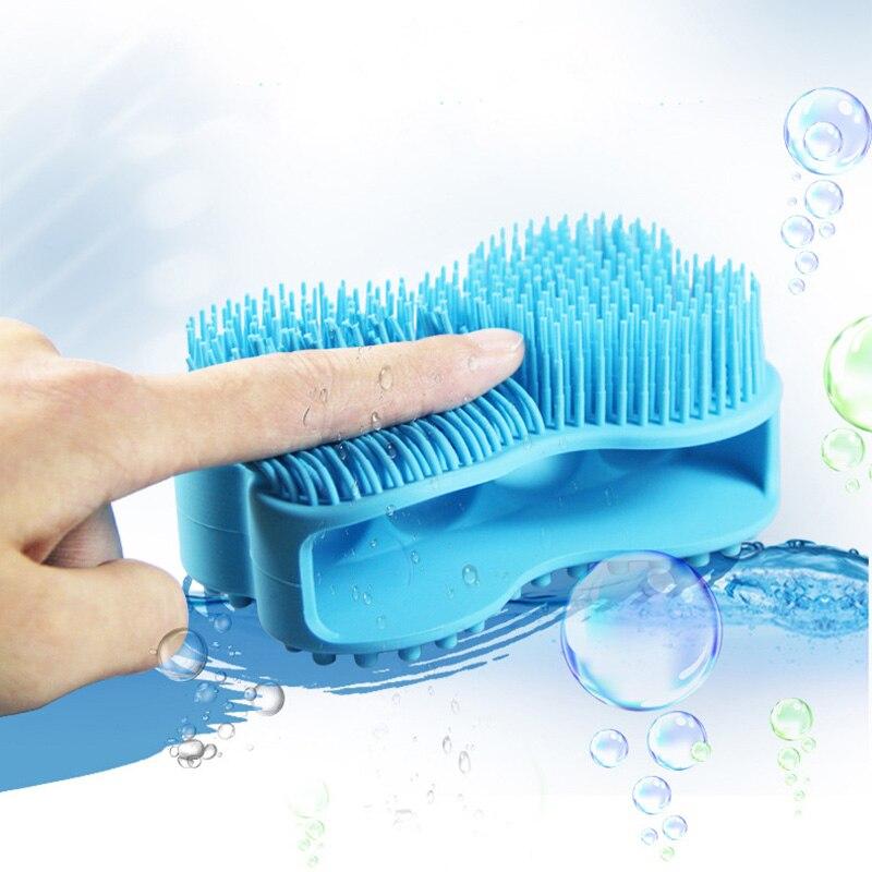 Hot Sale Soft Silicone Massage Brush Baby Double-sided Shower Relaxation Bath Shampoo Scalp Massage Comb