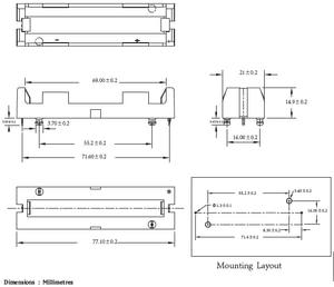 Image 4 - 5Pcs/lot High Quality 1 X 18650 Battery Holder THM With Pins 18650 Battery Storage Box TBH 18650 1C THM