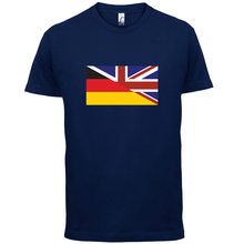 Half German Half Britain Flag - Mens T-Shirt - Britain / Germany - 13 ColoursNew T Shirts Funny Tops Tee New Unisex Funny Tops britain flag letter landmark pattern tassel scarf