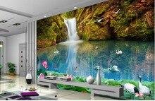 3d room wallpaper landscape waterfall tv backdrop mural wallpaper custom 3d wallpaper murals
