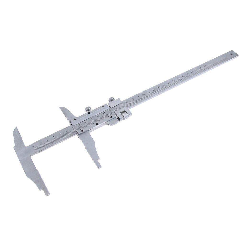 300mm x 0.02mm précision industrielle en acier inoxydable Vernier échelle règle étrier métrique avec une vis supplémentaire