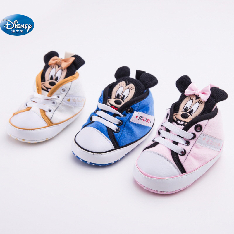 4365b4cbe12 Disney baby Girls Princess Shoes cute Cartoon Minnie pink children Mickey  newborn soft Toddler Shoes-in Crib Shoes from Mother   Kids on  Aliexpress.com ...