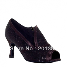 New Ladies Sexy  Black Glitter Ballroom Shoes Dance Shoes Latin SALSA Shoes Smaba Shoes