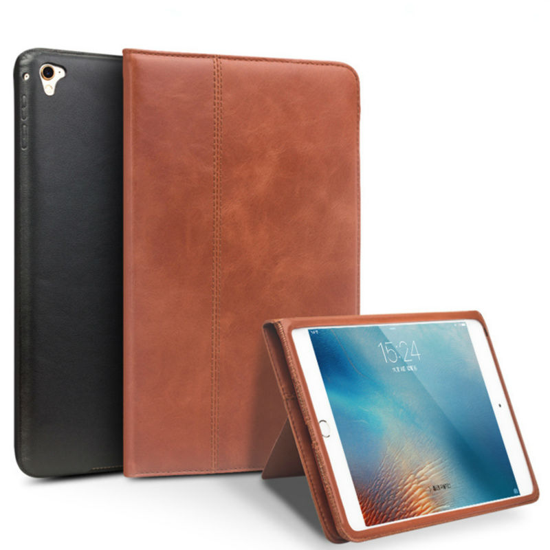Qialino For iPad air 2 Pro 9.7 Tablet Case Genuine Leather Stents Dormancy Stand Cover Card Slots for iPad Pro 9.7'' air2 Fundas seed dormancy and germination