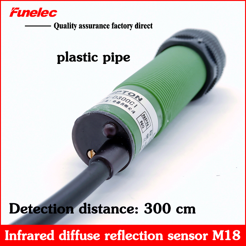 Infrared Diffuse Reflection Photoelectric Switch Human Body Sensor Module E3FN-D300C1 NPN NO Normally Open 3 Line