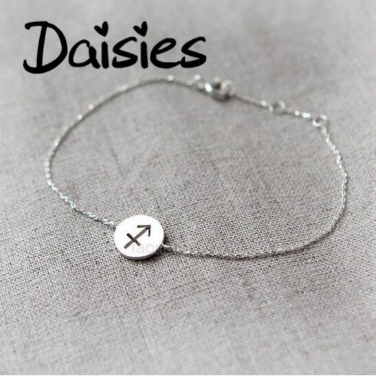 Daisies One Piece Zodiac Sign Bracelet Constellation Signs Bracelets For Women 12 Constellation Bracelets Jewelry