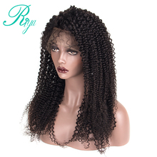 Riya Hair Full Lace Human Hair Wigs Afro Kinky Curly 1B Black Brazilian Remy Hair Pre Plucked Lace Wigs For Women With Baby Hair