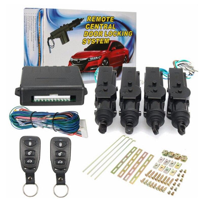Sistemas de Alarme de Carro Universal Central Remoto Kit Porta Sistema de Entrada de Bloqueio Bloqueio Keyless Veículo Novo Com Luzes de Direção