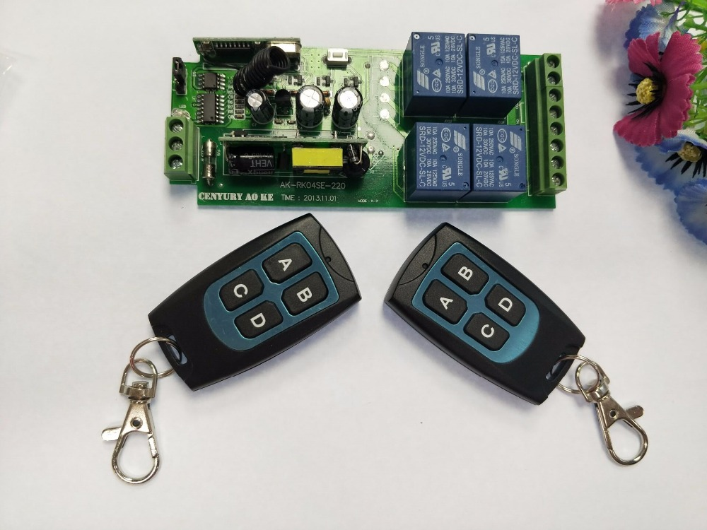 85v 250V 110V 220V 230V 4CH RF Wireless Remote Control Relay Switch Security System Garage Doors