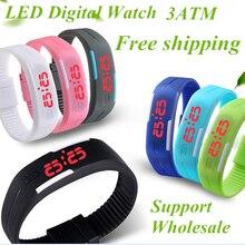 Men's Women's Kids Rubber LED Quality Waterproof Watches