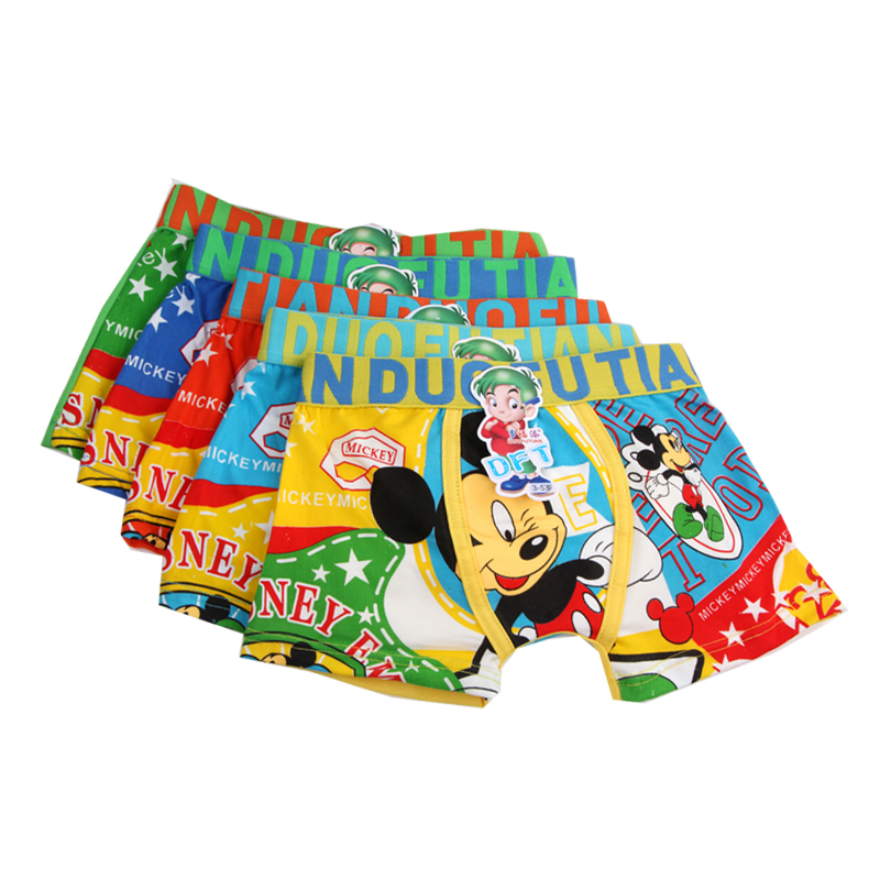 2pcs/lot Mickey Underpants For Boys Underwears Girls Panties Spiderman Boys Boxers Girls Underwears Child Shorts Baby Panty 3-11