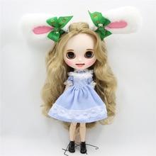 Neo Blythe Doll Blue Stripe Lace Dress