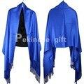 Primavera Outono New Blue Lady Xaile Do Lenço de Algodão do Estilo Chinês cachecol Pashmina Hijab Mujere Bufanda Chal 190x70 cm G0019