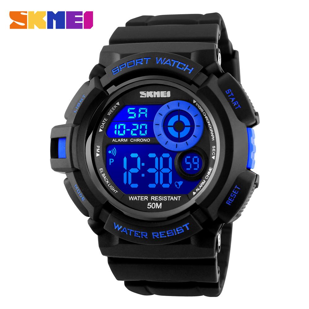 Prix pour SKMEI Marque Hommes de Montres Numérique LED Militaire Sport Montre Hommes Mode S-Choc Électronique Montres Hot Horloge Numérique-montre