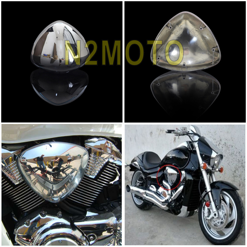 2 pcs high chrome abs plastic motorcycles intake air filter cleaner cover for suzuki boulevard m109