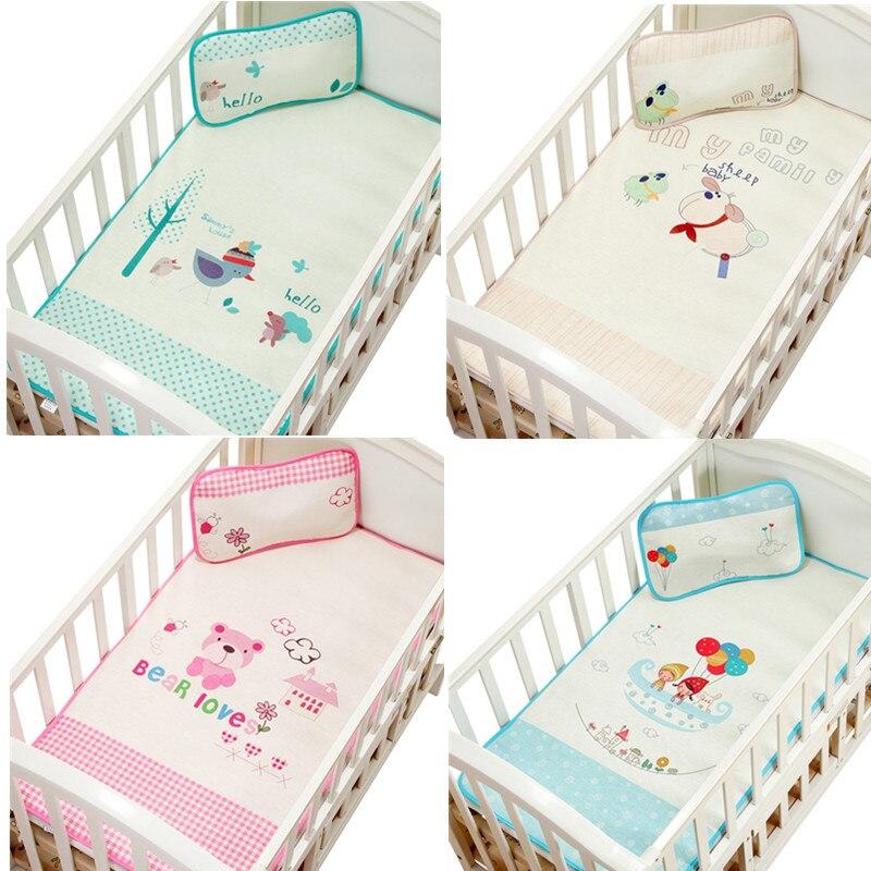 Baby Mattresses For Girls Boys Cartoon Cotton Soft Cute Urine Pad Infant Diaper Waterproof Bedding Changing Cover Pad 2pcs Mattresses Baby Bedding