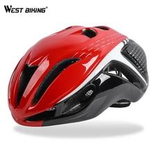 купить WEST BIKING Bicycle Helmet Integrally-molded Adjustable Comfortable Casco Ciclismo Safety Cycling Helmet Tough MTB Bike Helmet онлайн