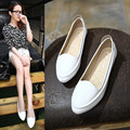Flat female shallow mouth shoes woman dipper shoes leather soft outsole Moccasins women shoes flat maternity girl shoes