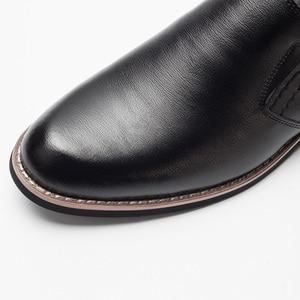 Image 5 - BUVAZIK Marka Deri Muhtasar Erkekler İş Elbise Sivri siyah ayakkabı Nefes Resmi Düğün Temel Ayakkabı Erkekler