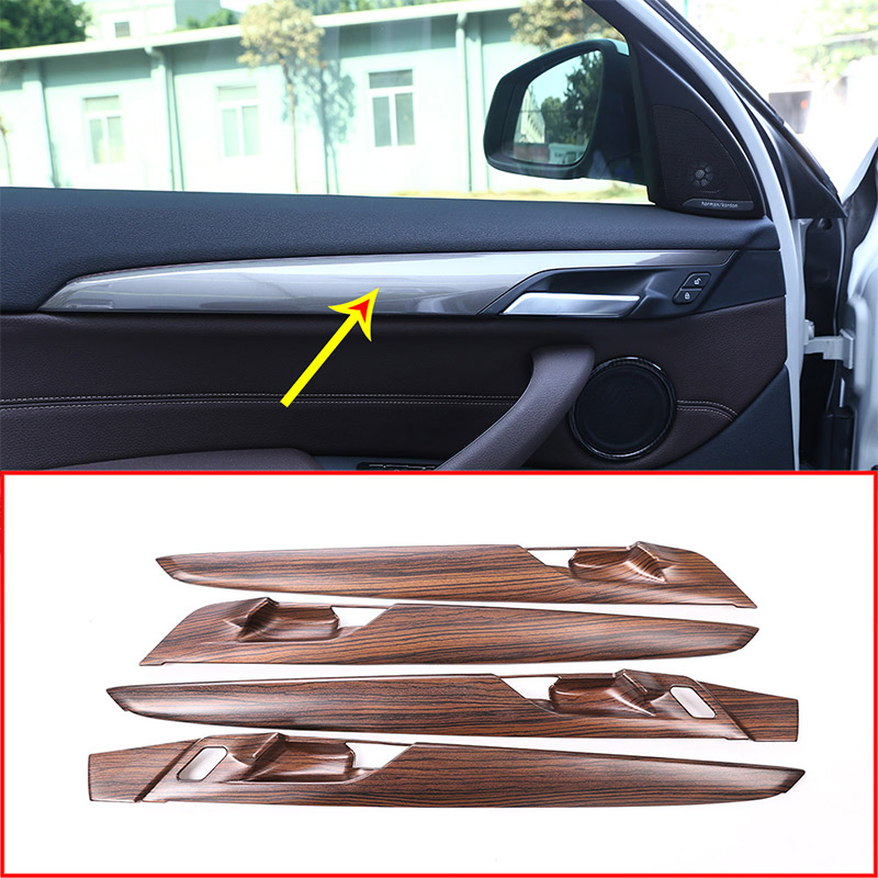 4pcs Pine Wood Grain For BMW X1 F48 2016-2019 ABS Car Interior Door Panel Cover Trim Accessories4pcs Pine Wood Grain For BMW X1 F48 2016-2019 ABS Car Interior Door Panel Cover Trim Accessories