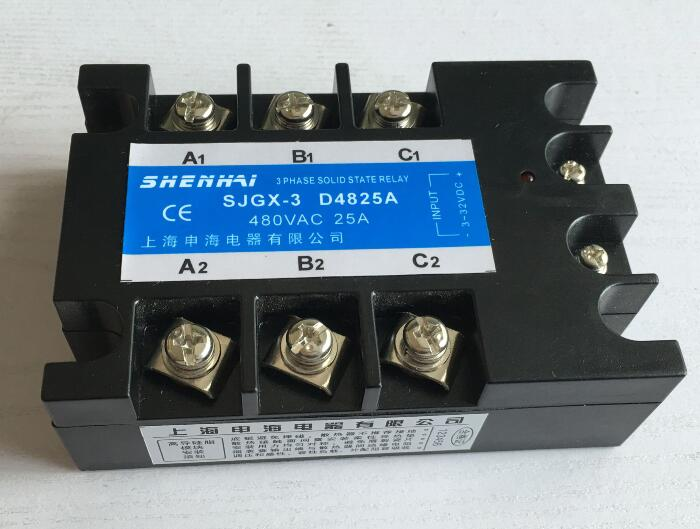 Three-phase solid state relay SJGX-3 D48 25A 480VAC tsr 25da new and original fotek 3 phase solid state relay 3 phase solid state module 25a
