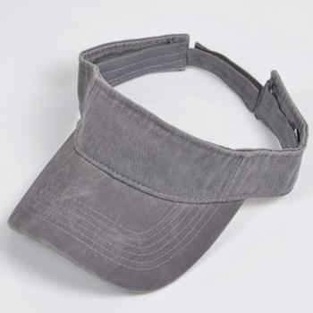 79209dd0165a2 Vintage % 100% pamuk Yıkanmış Boya Baba Visor Kap Erkek Kadın güneşlik  şapka Haki Lacivert Siyah Gri Turuncu Beyaz Kafa Boyutu 58 cm Ayarlanabilir