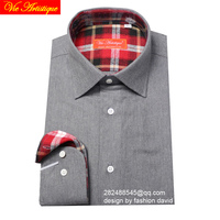 Male Long Sleeve Casual Silver Grey Thick Flannel Cotton Shirts Men S Big Size Casual Shirt
