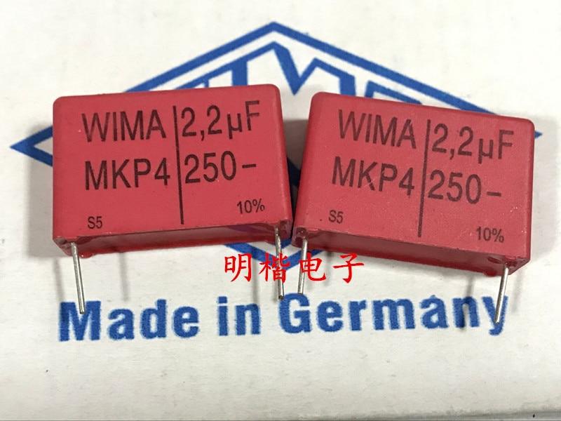 2019 hot sale 10pcs/20pcs Germany WIMA MKP4 250V 2.2UF 2U2 250V 225 P: 27.5mm Audio capacitor free shipping2019 hot sale 10pcs/20pcs Germany WIMA MKP4 250V 2.2UF 2U2 250V 225 P: 27.5mm Audio capacitor free shipping