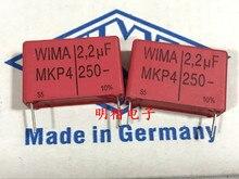 2020 venda quente 10 pces/20 pces alemanha wima mkp4 250v 2.2uf 2u2 250v 225 p: 27.5mm capacitor de áudio frete grátis
